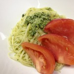 トマトとバジルのジェノベーゼ冷製パスタレシピ